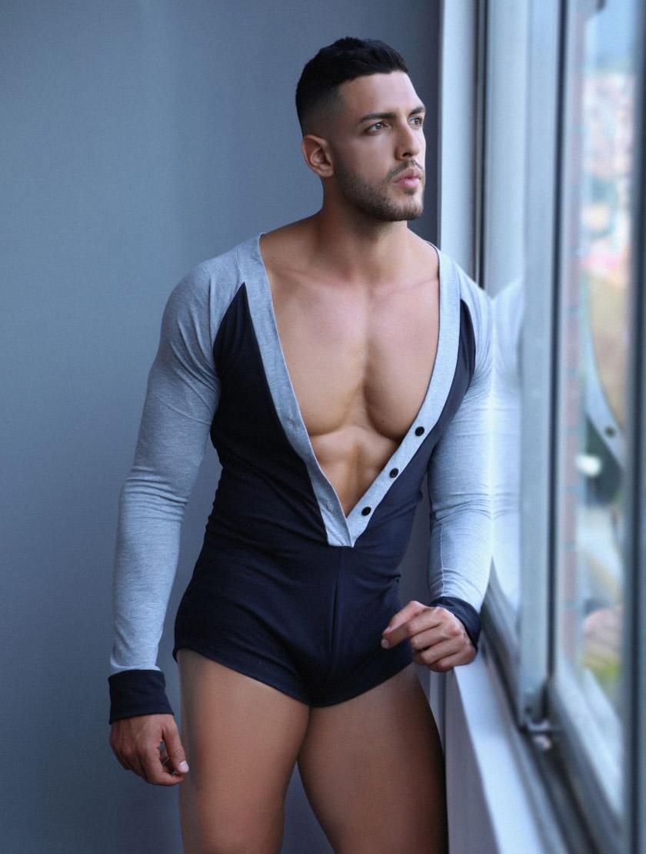 CandyMan/キャンディーマン Lounge Bodysuit ボディスーツ シングレット ルームウェア 男性下着 メンズ 上下一体型