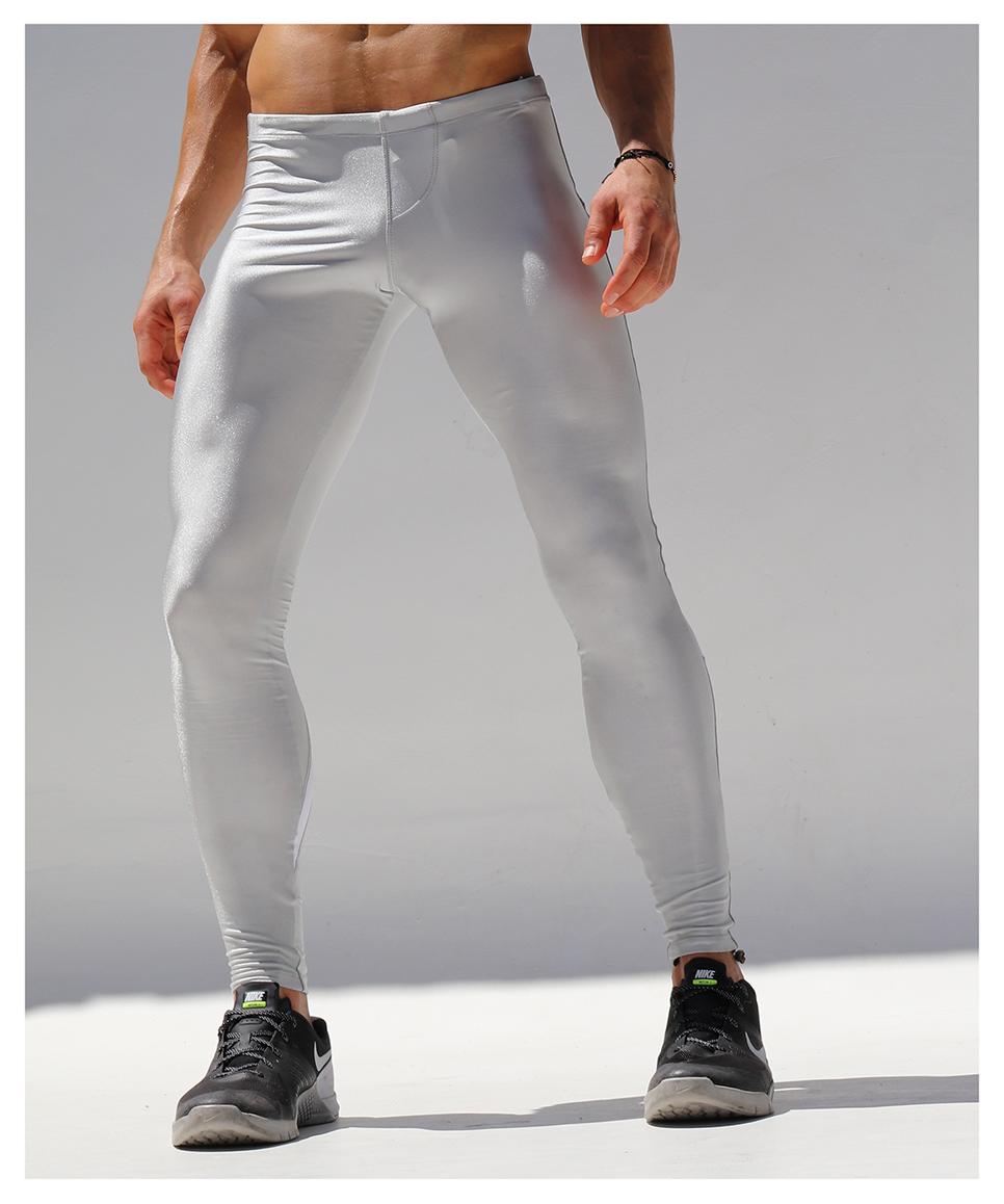 RufSkin/ラフスキン SPIDERストレッチスポーツレギンス 光沢 アスレチックパンツ スポーツパンツ スポーツウェア ジムウェア トレーニングウェア メンズ