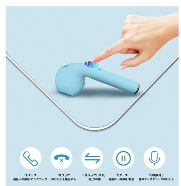 ワイヤレスイヤホン Bluetooth5.0 iPhone inpods12 両耳 マカロン 高音質 ブルートゥース イヤホン