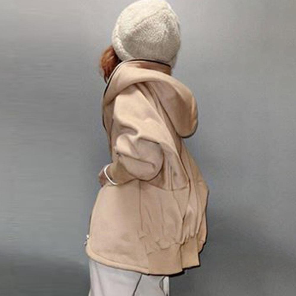 ins大人気 パーカー 帽子付き 2021年秋冬新作 レディーストップス アウター 韓国風 ゆるシルエット