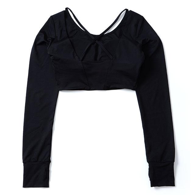 ヨガトップス(長袖)/ブラック