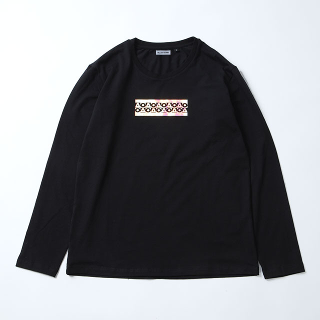 OB_AO20長袖Tシャツ/ブラック&シェル(男女兼用)