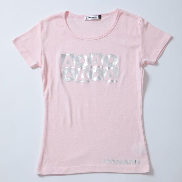 OB_AO8フライス半袖Tシャツ/パステルピンク(レディース)