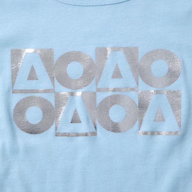 OB_AO8フライス半袖Tシャツ/パステルブルー(レディース)