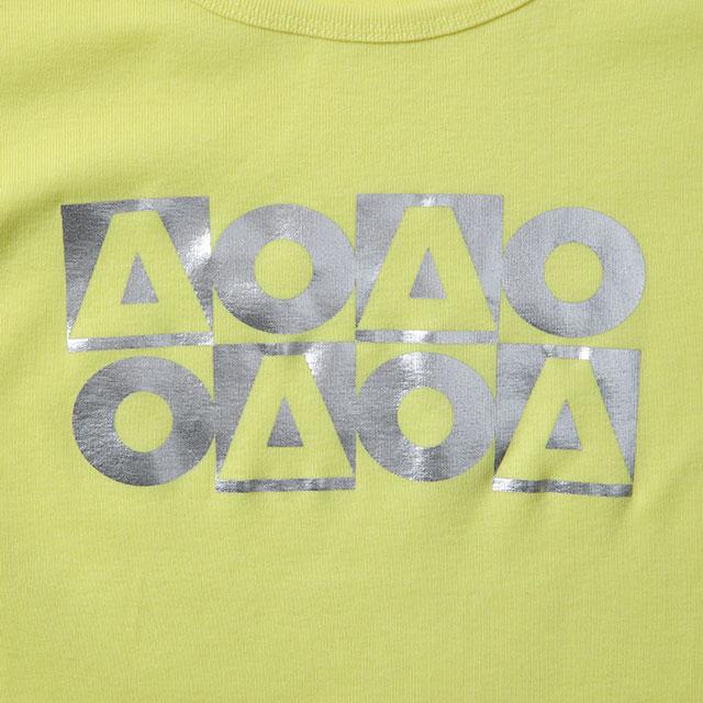 OB_AO8フライス半袖Tシャツ/パステルイエロー(レディース)