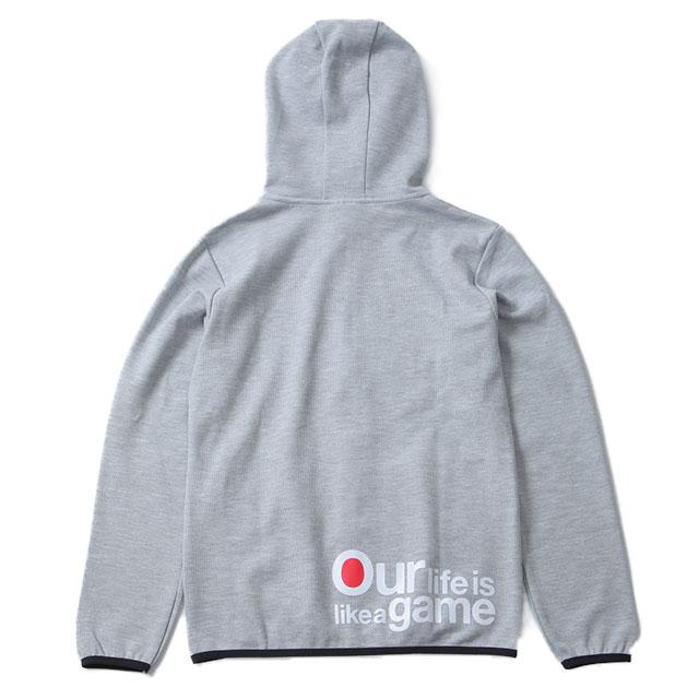 OLLGドライスウェットジップパーカー/グレー(男女兼用)