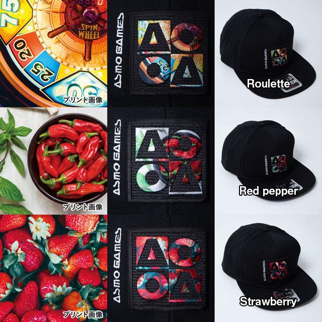 CB_AO4フラットバイザーキャップ/Red pepper