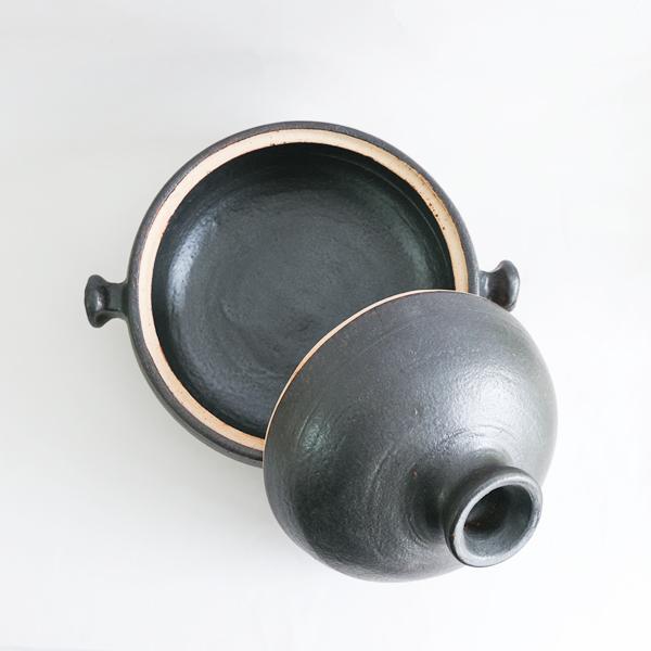 _田義一 土鍋・黒・小 Φ22cm
