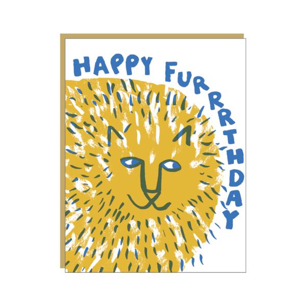 活版印刷 Happy Furrrthday