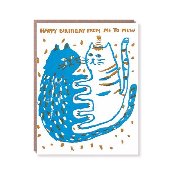 活版印刷 happy birthday card (Cat)