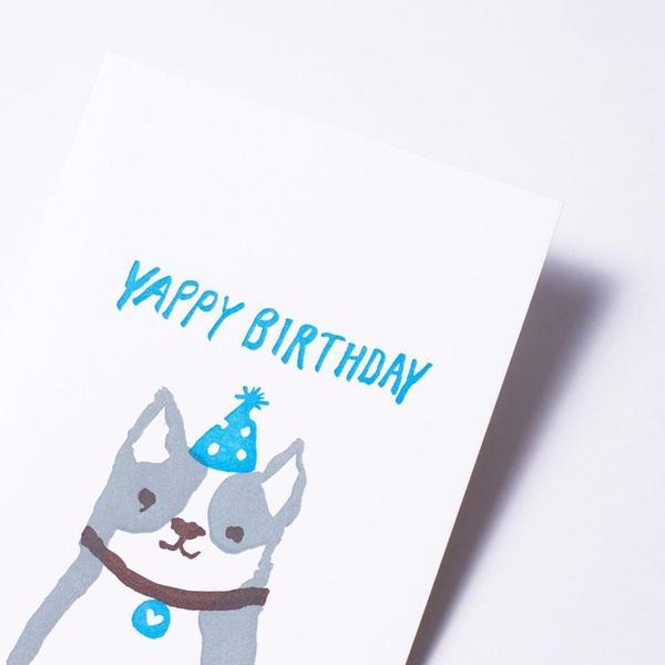 活版印刷 happy birthday card (yappy birthday)