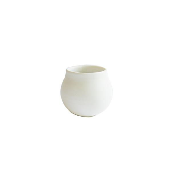 馬場勝文 白磁マットフリーカップ 小 model:A H6cm