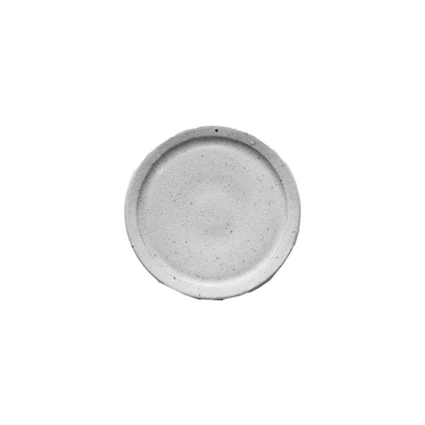 齊藤 隆 リム皿3寸 粉引透明