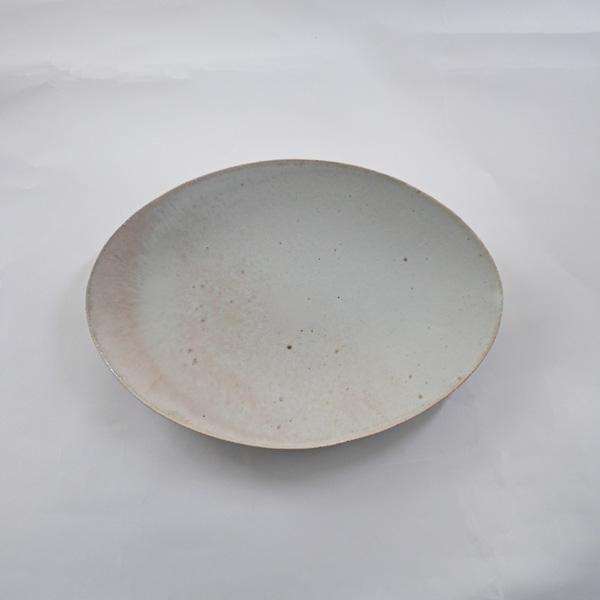 清岡幸道 灰白窯変オーバル皿 大 19cm×27cm
