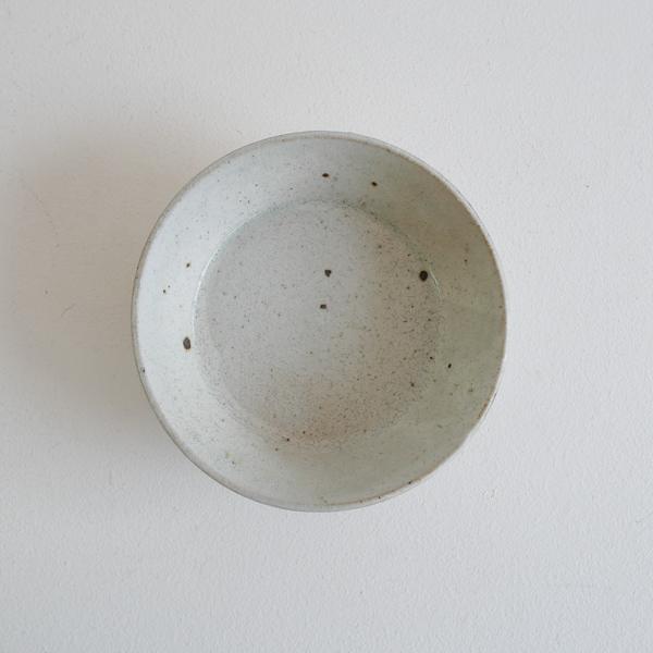 齊藤 隆 粉引マット浅ドラ鉢4寸 Φ13cm