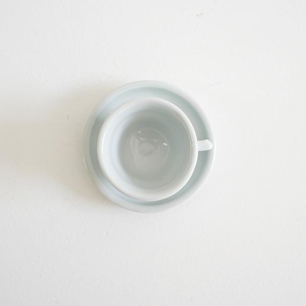 _田義一 デミカップ&ソーサー 白