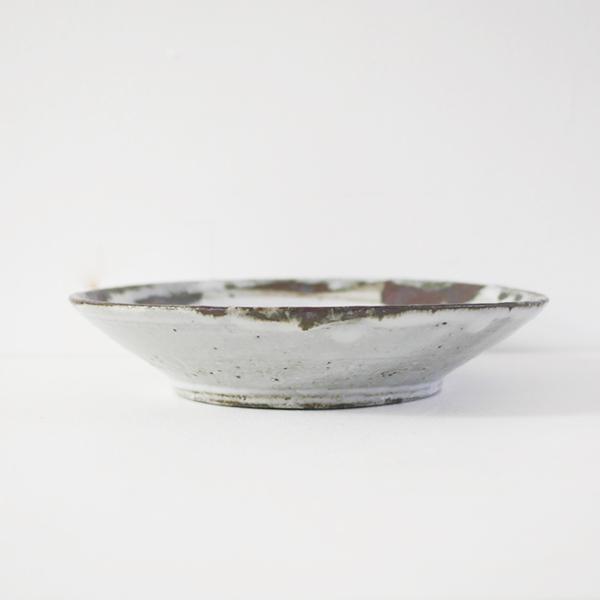 小野哲平 鉄化粧クロス7寸皿 model:B Φ21cm
