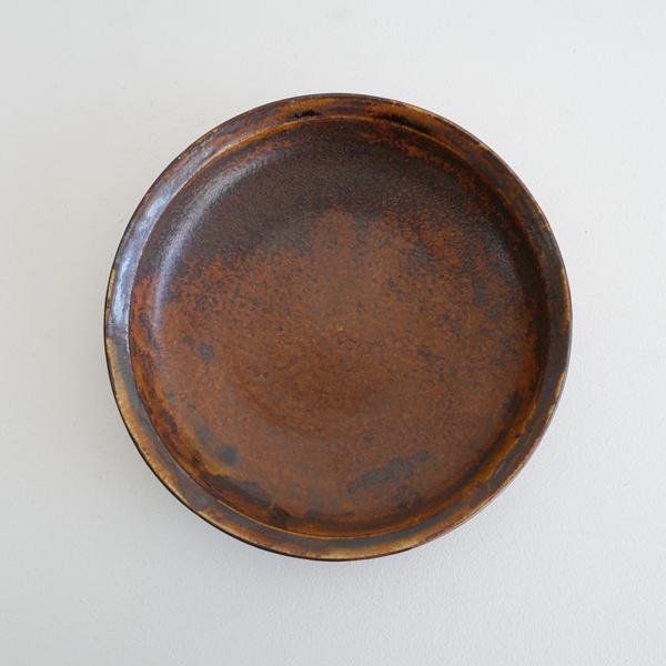 齊藤 隆 飴釉マット浅鉢7寸 Φ21.5cm