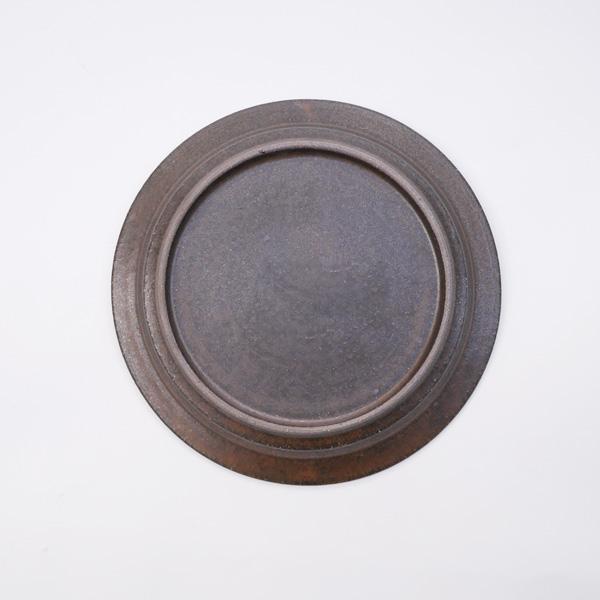 清岡幸道 錆釉8寸リム皿 Φ24.5cm