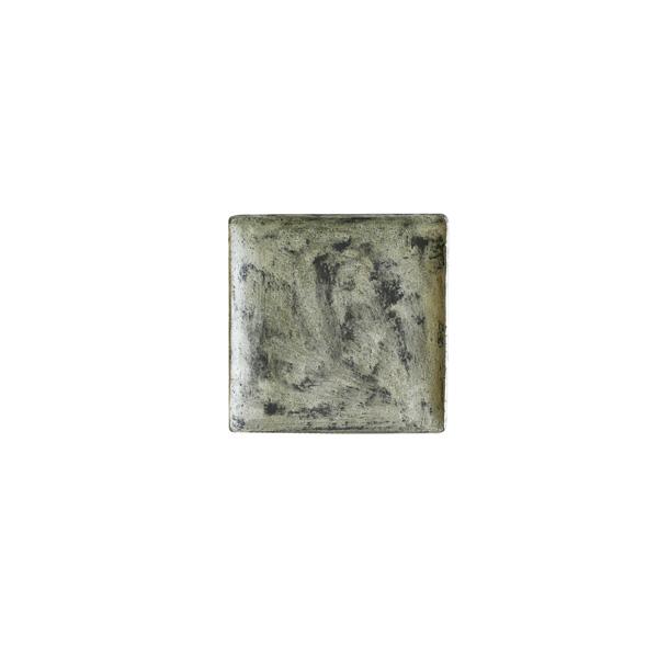 谷井直人 黒銀彩 角皿 小 11.5×11.5cm
