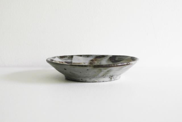 小野哲平 鉄化粧クロス取皿 Φ15cm