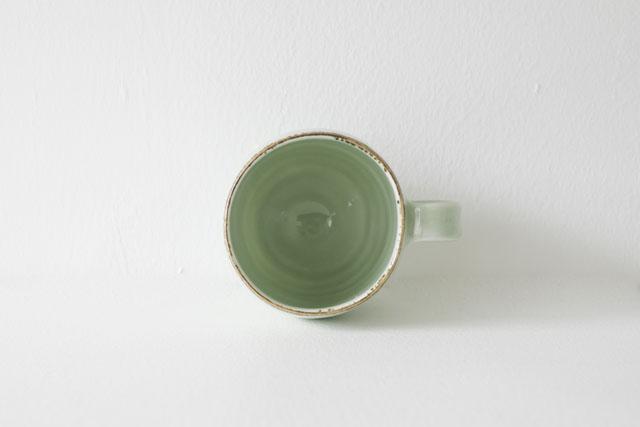 山崎美和 若草色マグカップ