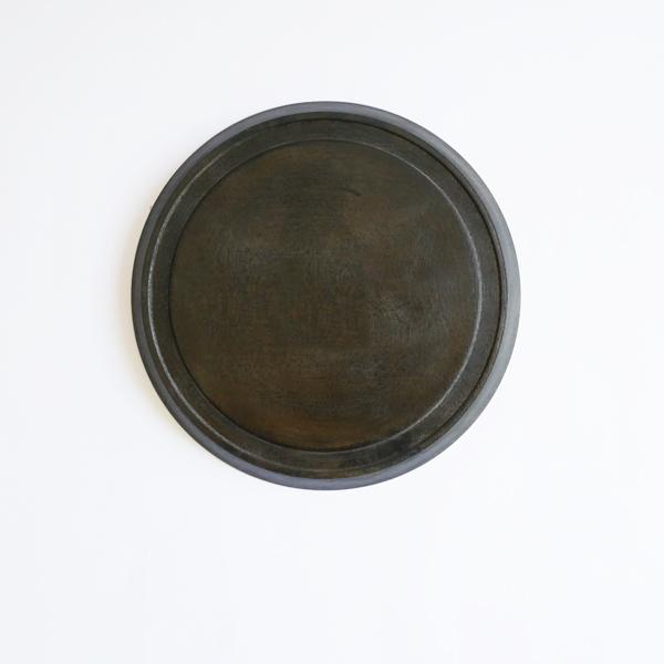 菅原博之 プレート 茶漆 Φ19.7cm