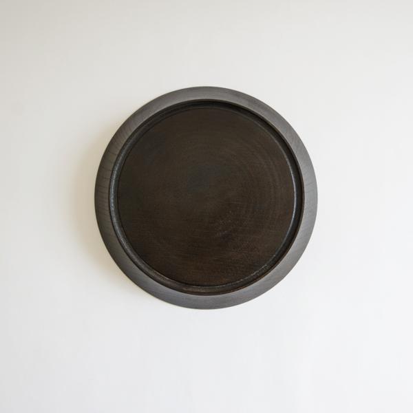 菅原博之 皿 茶漆 Φ21cm
