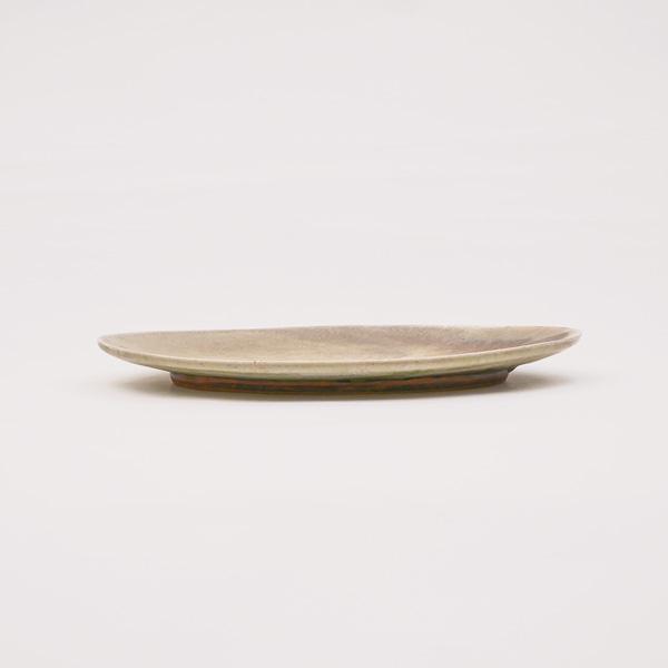 清岡幸道 灰窯変オーバル皿 大 19×27.5cm