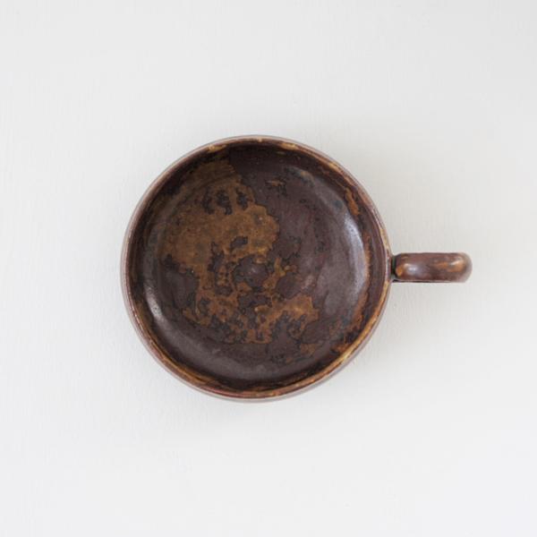 齊藤 隆 ティーカップ 小 飴釉マット  H4.5cm