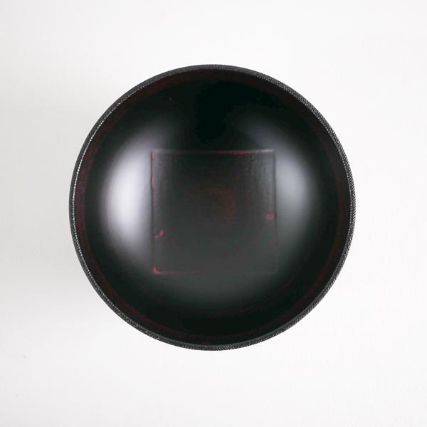 会津塗 布汁椀 黒 Φ18cm