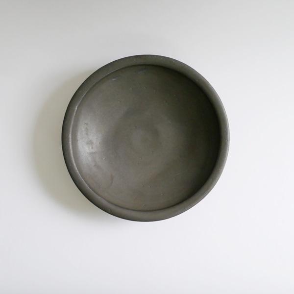 馬場勝文 黒釉22cm 鉢 Φ 22cm