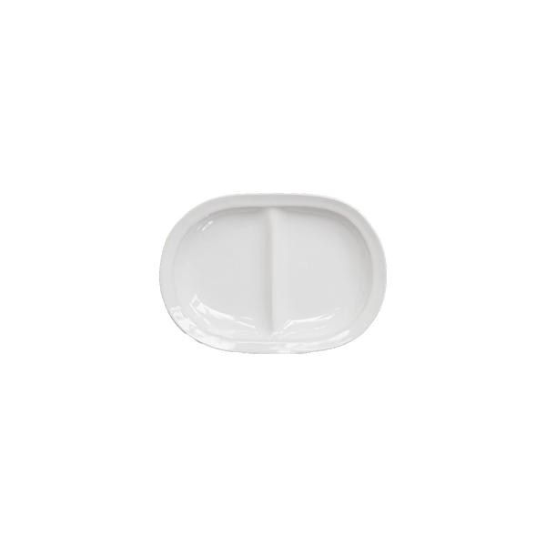 田中直純 仕切楕円小皿