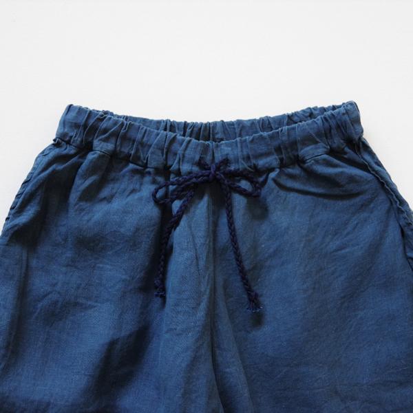 MITTAN 大麻パンツ(草木染) 藍×胡桃 送料無料