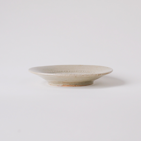 郡司庸久・慶子 型打ち皿4寸 model B Φ11.5cm