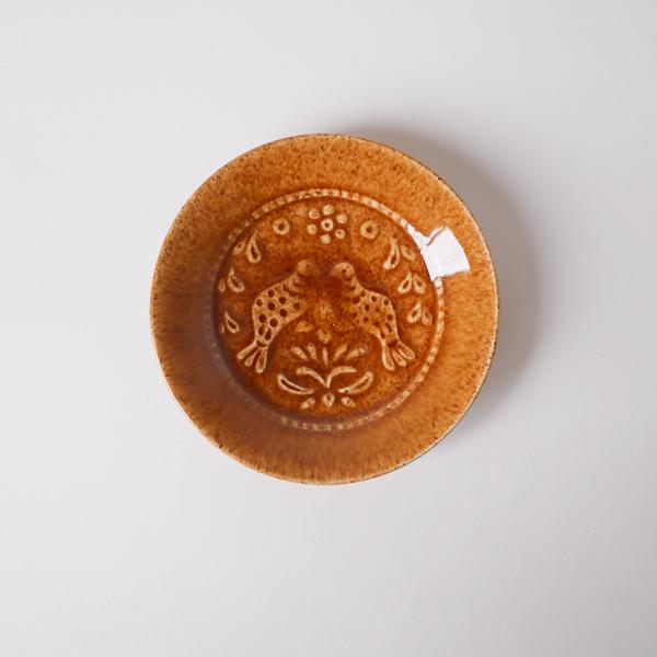 郡司庸久・慶子 型打ち皿4寸 model C Φ11.5cm