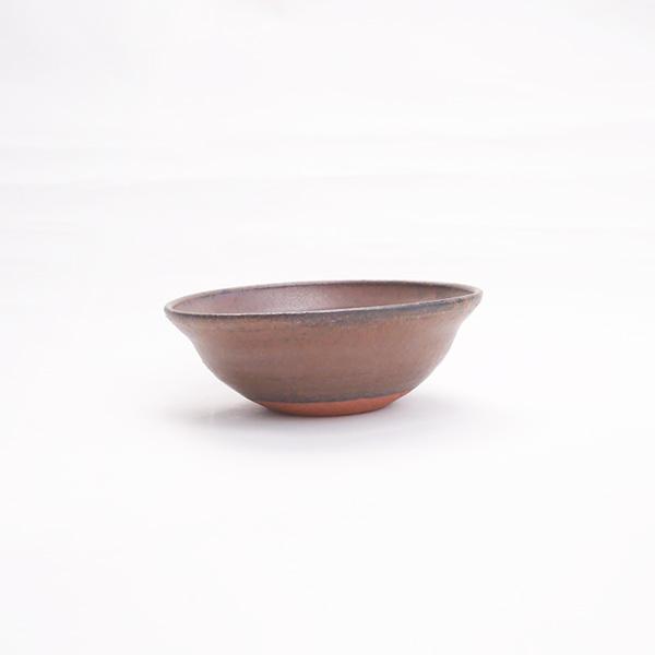 清岡幸道  茶釉耐火リムボウル Φ15cm
