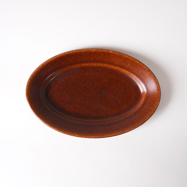 郡司庸久・慶子 オーバル皿 小 model B 18cm×27cm