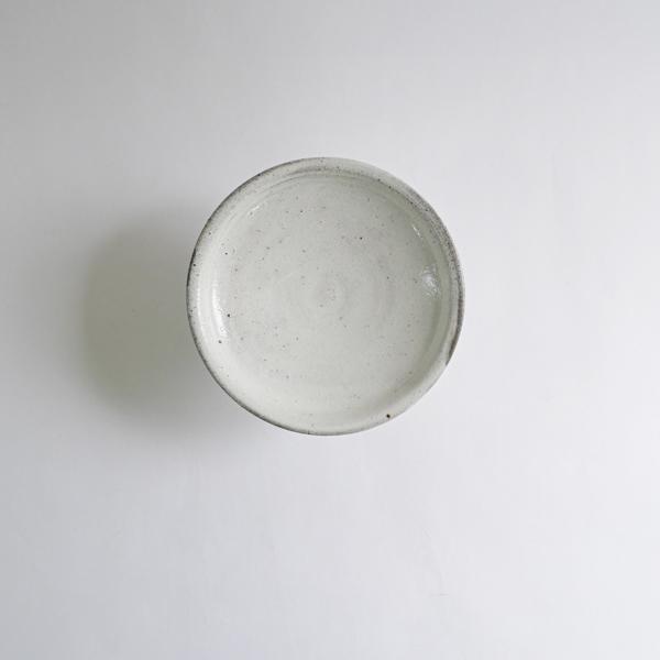 高木剛 粉引高台皿5寸 Φ15cm