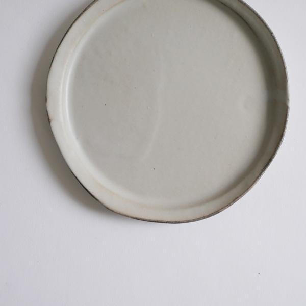 馬場勝文 土マットリム細4.5寸皿 Φ14cm