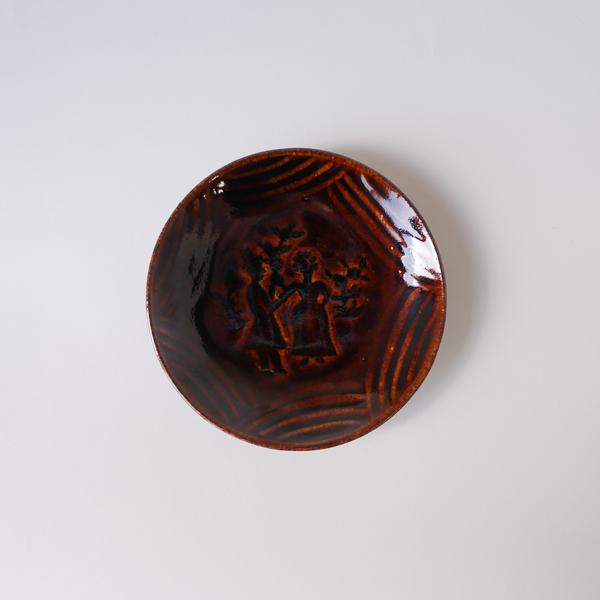 郡司庸久・慶子 型打ち皿4寸 人 model X Φ12cm