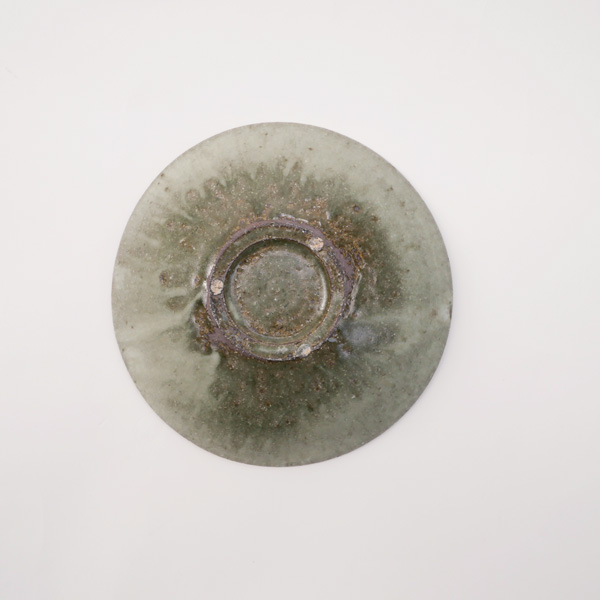 清岡幸道 青灰平鉢 Φ18cm