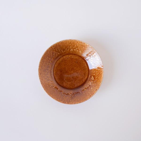 郡司庸久・慶子 型打ち皿4寸鉢  model A Φ13cm