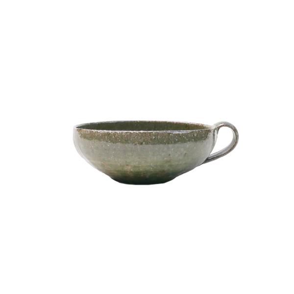 清岡幸道 灰釉オリーブス-プカップ