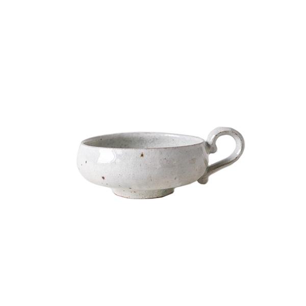 齊藤 隆 ティーカップ 小 粉引透明  H5cm