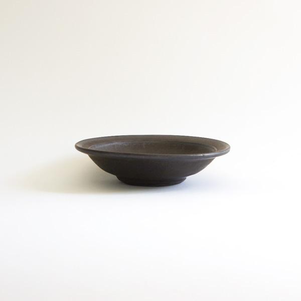 馬場勝文 黒釉リム5.5寸鉢 Φ16.5cm