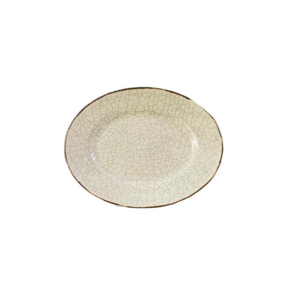 谷井直人 白×黒 オーバル皿 小 12×16cm