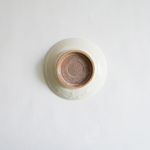 高木剛 粉引4.5寸皿 Φ13.5cm