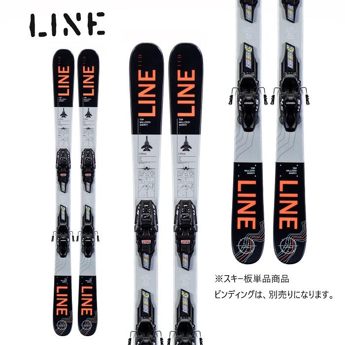 -LINE ライン- スキー板 単品 ジュニア [LINE TW SHORTY] トムウォリッシュショーティー 19-20モデル