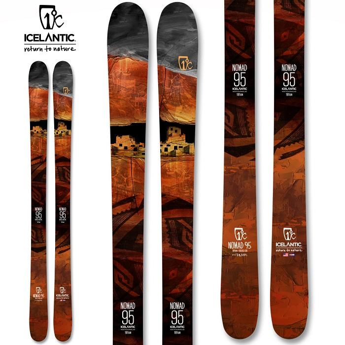 -ICELANTIC アイスランティック- スキー板 単品  [ICELANTIC NOMAD 95] ノマド 95 20-21モデル 送料無料